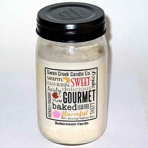 Swan Creek 100% Soy 24 Oz. Jar Candle - Buttercream Vanilla