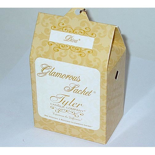 Tyler Candle Glamorous Sachet Box of 4 - Diva