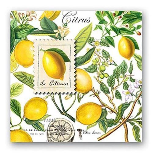 Michel Design Works Paper Luncheon Napkins - Lemon Basil