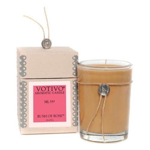 Votivo Aromatic Candle No. 55 6.8 Oz. - Rush of Rose