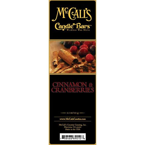 McCall's Candles Candle Bar 5.5 oz. - Cinnamon & Cranberries