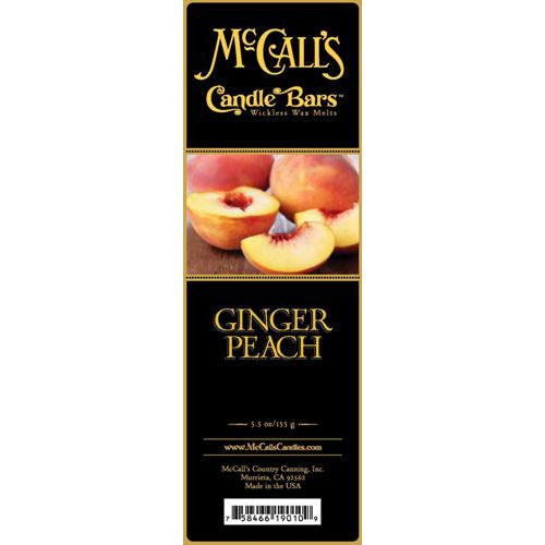 McCall's Candles Candle Bar 5.5 oz. - Ginger Peach