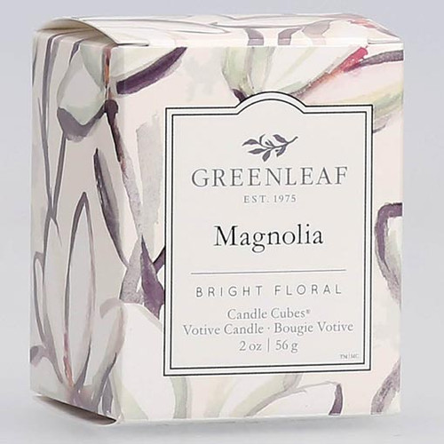 Greenleaf Gifts Candle Cube Boxed Votive - Magnolia
