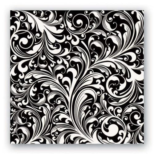 Michel Design Works Paper Luncheon Napkins - Black Florentine