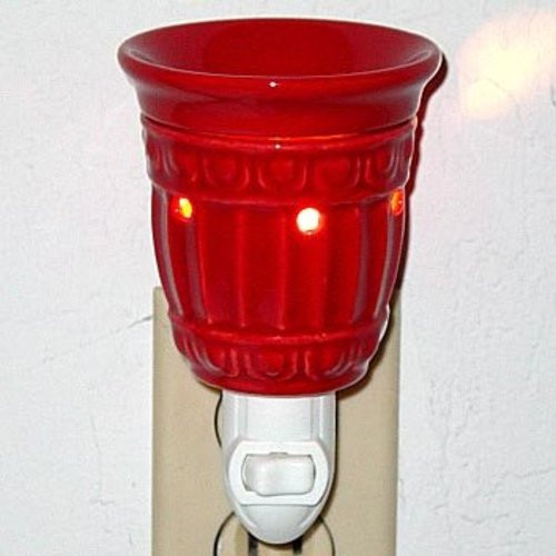 Plug-In Tart Burner - Red Columns