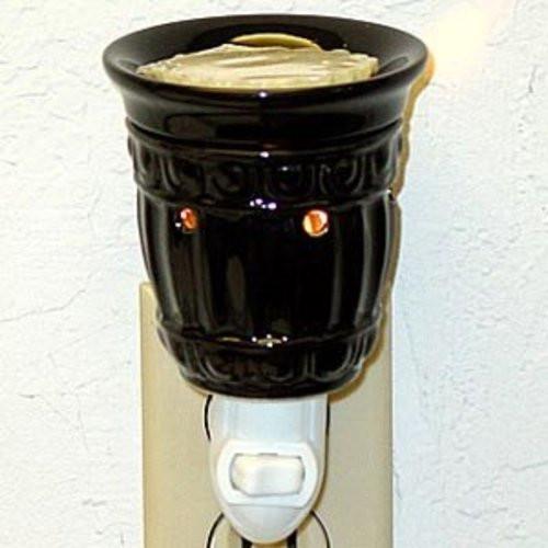 Plug-In Tart Burner - Black Columns