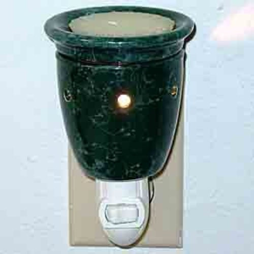 Plug-In Tart Burner - Marble Green