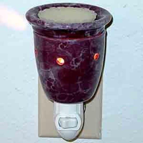 Plug-In Tart Burner - Marble Burgundy