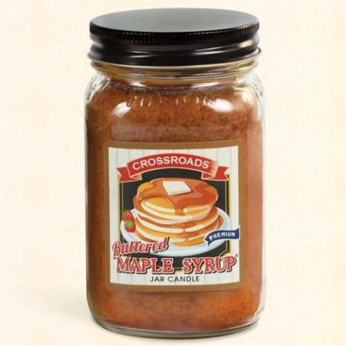 Crossroads Mason Jar Pint Candle 12 Oz. - Buttered Maple Syrup