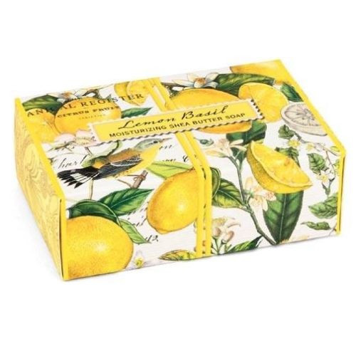 Michel Design Works Boxed Single Soap 4.5 Oz. - Lemon Basil