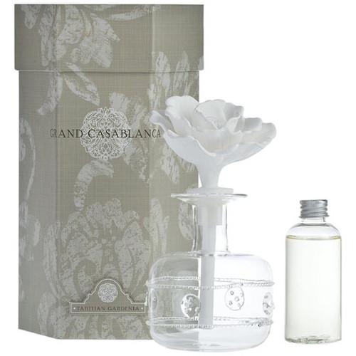 Zodax Grand Casablanca Porcelain Diffuser 6.8 Oz. - Tahitian Gardenia