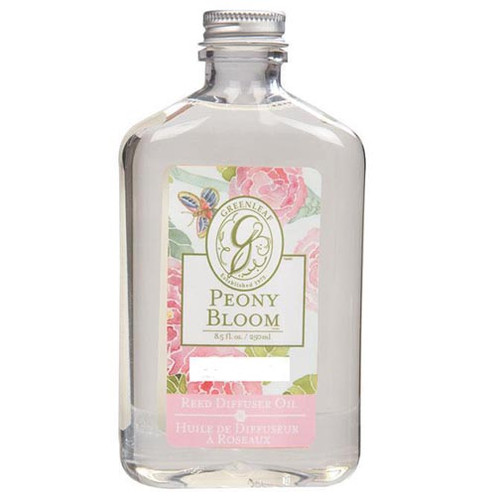 Greenleaf Reed Diffuser Oil 8.5 Oz.- Peony Bloom