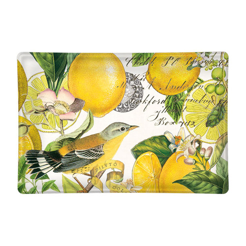 Michel Design Works Glass Soap Dish - Lemon Basil