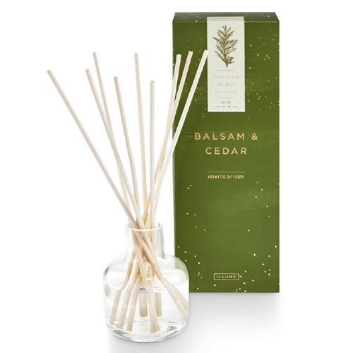 Illume Aromatic Reed Diffuser 3 Oz. - Balsam & Cedar