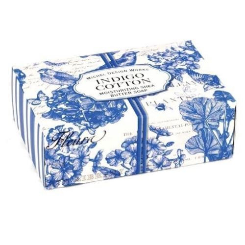 Michel Design Works Boxed Single Soap 4.5 Oz. - Indigo Cotton