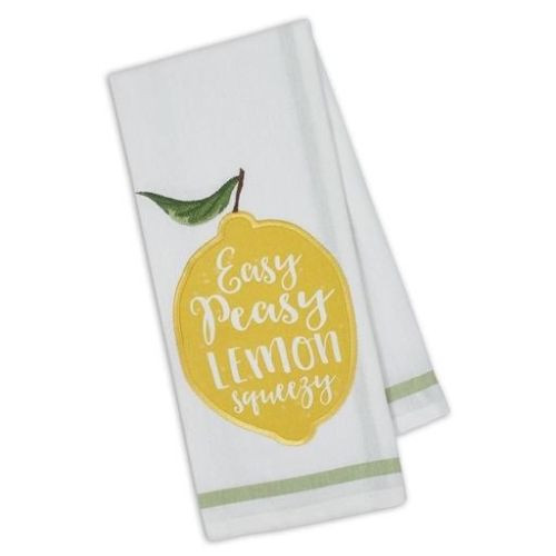 Design Imports Kitchen Towel - Lemon Squeezy Embellished