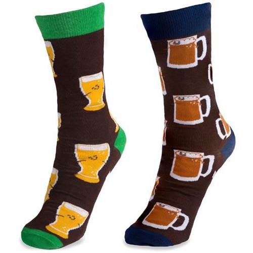 Pavilion Gift Unisex Cotton Blend Socks - Beer