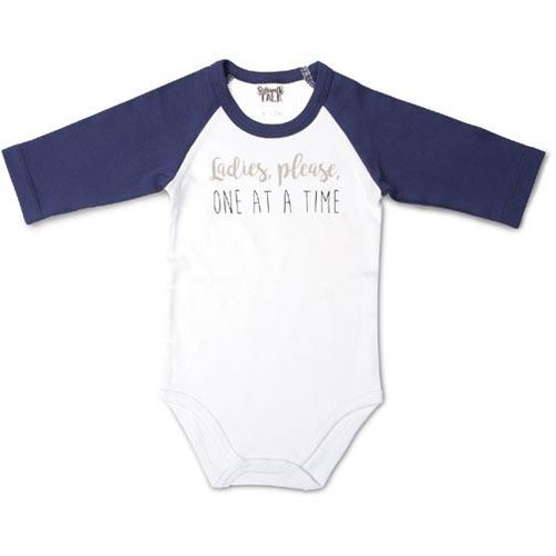 Pavilion Gift 6-12 Months 3/4 Sleeve Onesie - One at a Time