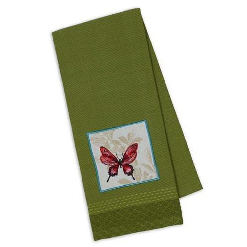 Design Imports Kitchen Towel - Butterfly Embellished