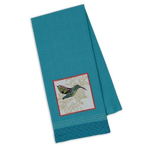 Design Imports Kitchen Towel - Hummingbird Embellished