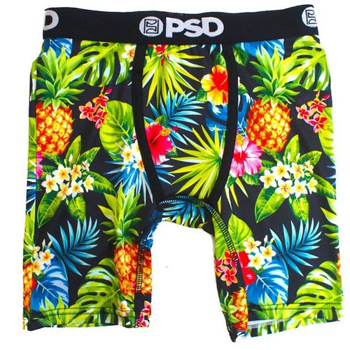 PSD Underwear Youth Boxer Briefs - Tropical