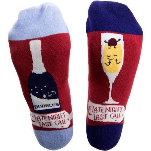 Pavilion Gift Unisex Cotton Blend Socks - Prosecco & Raspberries