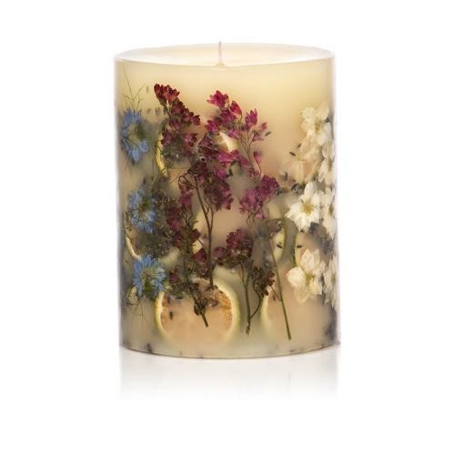 Rosy Rings Botanical Candle 6.5 Inches Tall - Roman Lavender