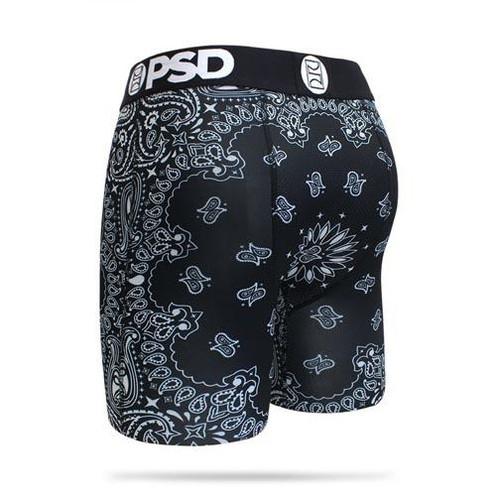 PSD Underwear Boxer Briefs - Black Bandana
