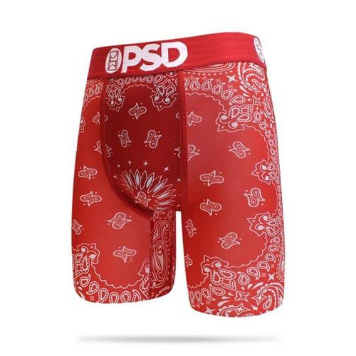 PSD Underwear Boxer Briefs - Red Bandana
