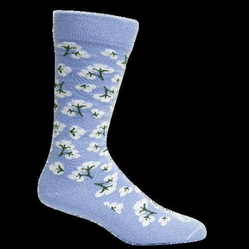 Brown Dog Hosiery Men's Socks - High Cotton Della Blue