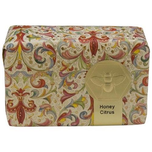 Honey House Florentine Wrapped Soap Bar 3.5 Oz. - Honey Citrus