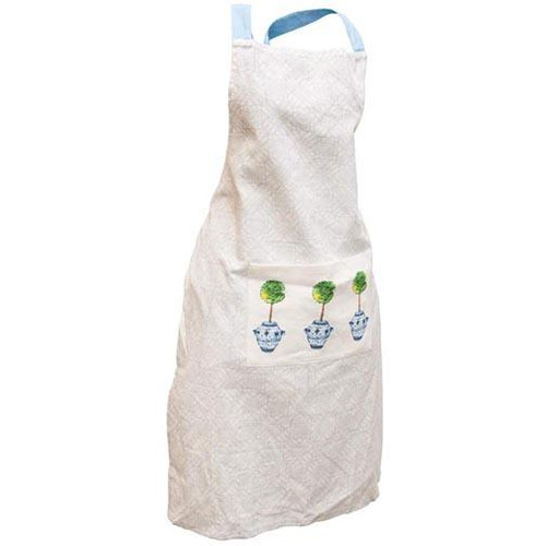 Boston International Apron with Pocket - Blue Topiary
