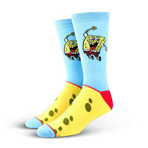 Cool Socks Men's Crew Socks - SpongeBob Happy Pants