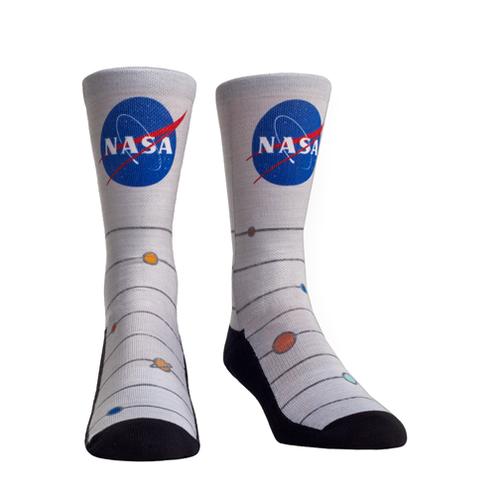 Rock 'Em Socks Unisex Crew Socks - NASA Heather L/XL