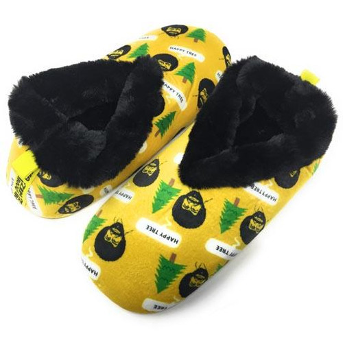 Oooh Yeah! Socks Women's Indoor Slippers - Bob Ross Happy Tree