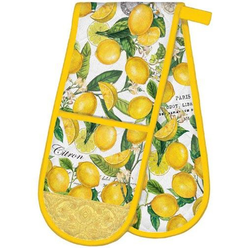 Michel Design Works Double Oven Glove - Lemon Basil