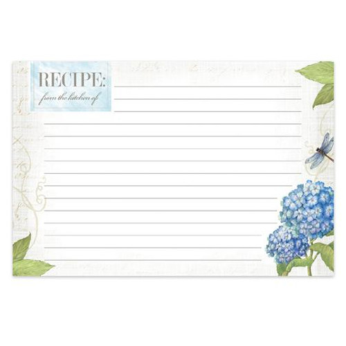 Brownlow Gifts Recipe Cards 4 x 6 - Hydrangea