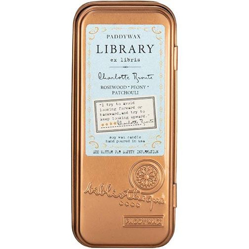 Paddywax Library Tin Candle 2.5 Oz. - Charlotte Bronte