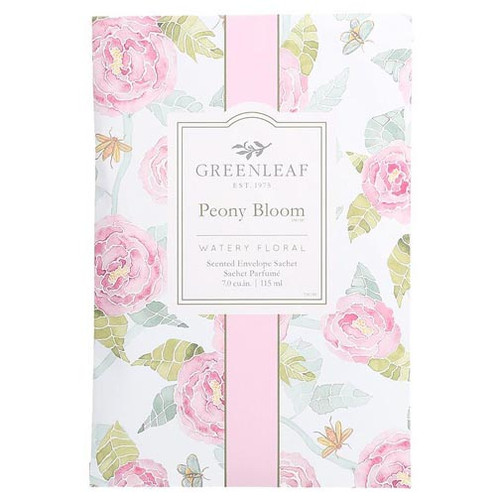 Greenleaf Large Scented Envelope Sachet - Peony Bloom