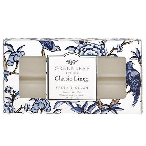 Greenleaf Gifts Scented Wax Bar 2.6 Oz. - Classic Linen