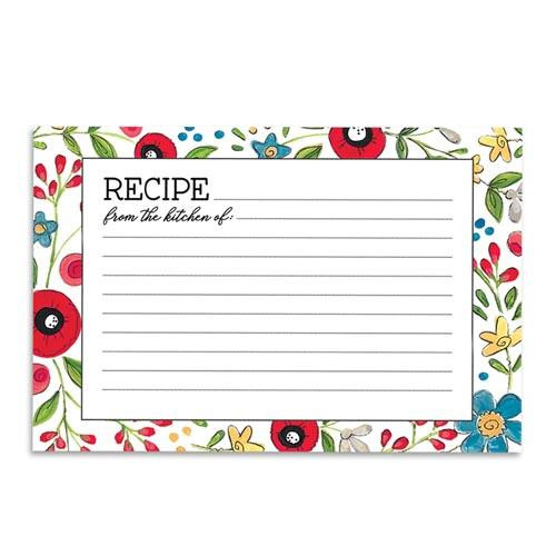 Brownlow Gifts Recipe Cards 4 x 6 - Happy Kitchen