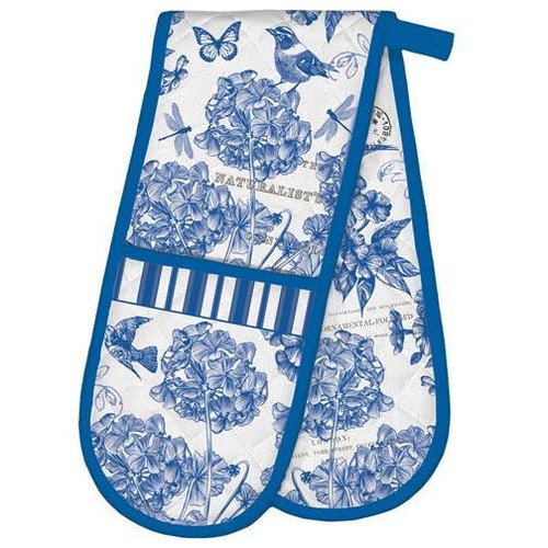 Michel Design Works Double Oven Glove - Indigo Cotton