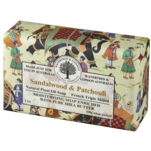 Australian Soapworks Wavertree & London 200g Soap - Sandalwood & Patchouli