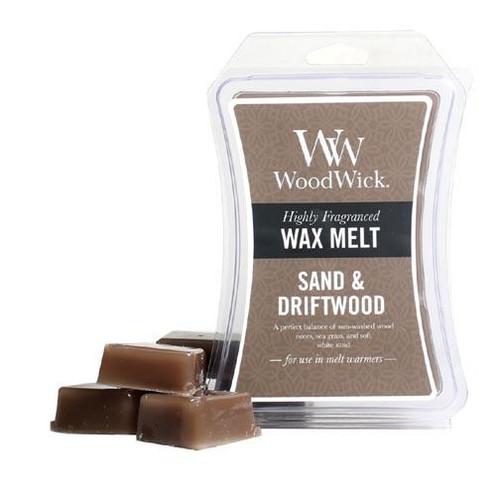 Woodwick Wax Melt 3 Oz. - Sand & Driftwood