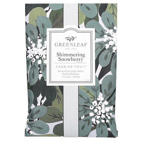 Greenleaf Large Scented Envelope Sachet - Shimmering Snowberry