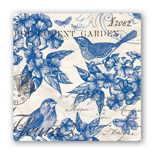 Michel Design Works Paper Cocktail Napkins - Indigo Cotton