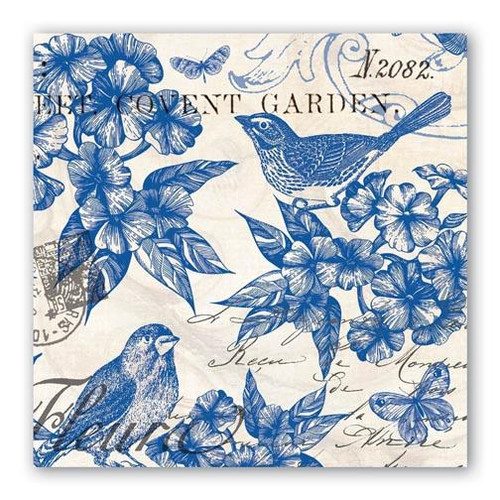 Michel Design Works Paper Luncheon Napkins - Indigo Cotton