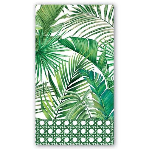 Michel Design Works Paper Hostess Napkins - Palm Breeze