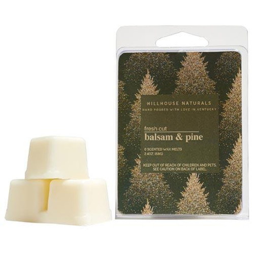 Hillhouse Naturals Wax Melt 2.4 Oz. - Fresh Cut Balsam & Pine