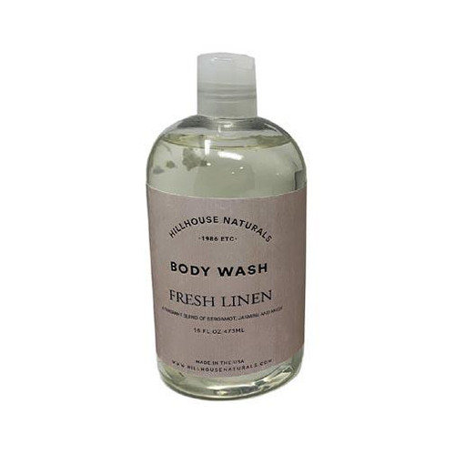 Hillhouse Naturals Body Wash 16 Oz. - Fresh Linen
